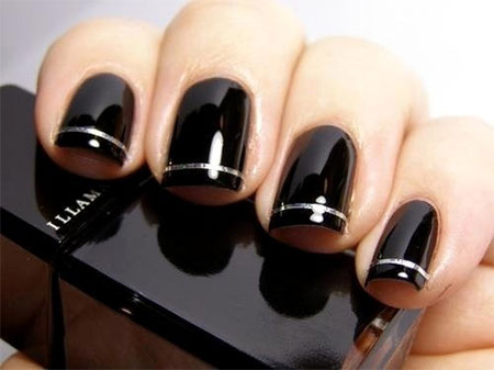 Simple-Black-Nail-Art Designs-Ideas-2013-2014-15