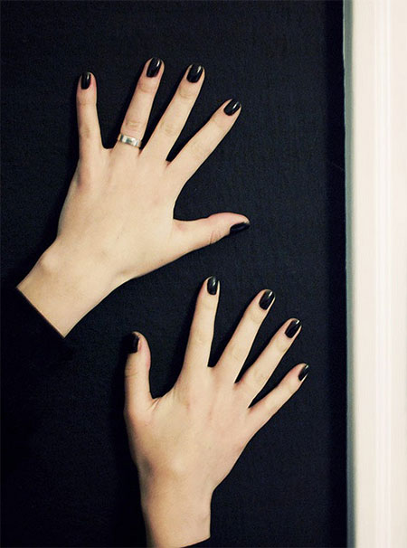 Simple-Black-Nail-Art Designs-Ideas-2013-2014-8
