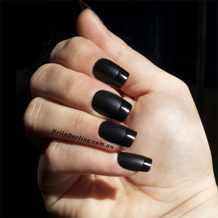 Black Nail Art - Simple Black Nail Art Designs & Ideas 2013/ 2014 Fabulous Nail