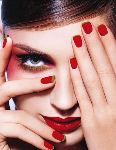 Simple Red Nail Art Designs & Ideas For Girls 2013/ 2014