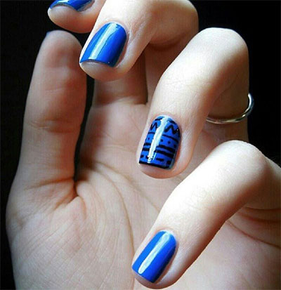 Amazing-Blue-Nail-Art-Designs-Ideas-2013-2014- - Amazing Blue Nail Art Designs & Ideas 2013/ 2014 Fabulous Nail