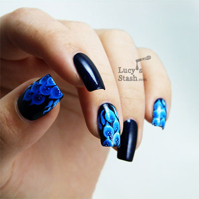 Amazing-Blue-Nail-Art-Designs-Ideas-2013-2014-7