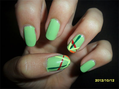 Best-Green-Nail-Art-Designs-Ideas-2013-2014-3