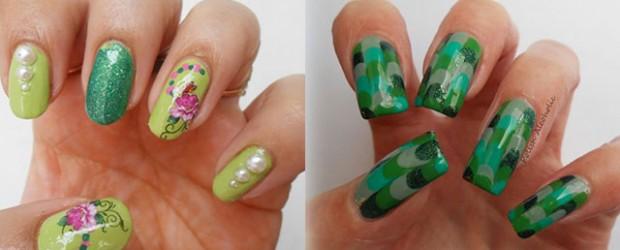 Best-Green-Nail-Art-Designs-Ideas-2013-2014