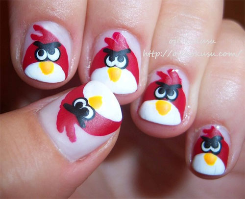 Cute-Angry-Birds-Nail-Art-Designs-Ideas-2013-2014-3