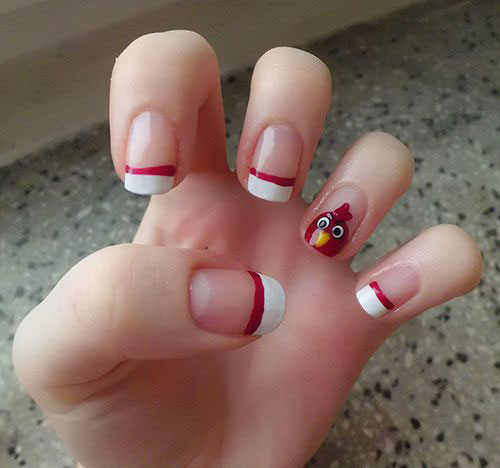 Cute-Angry-Birds-Nail-Art-Designs-Ideas-2013-2014-6