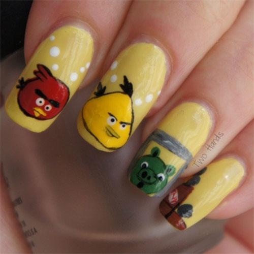 Cute-Angry-Birds-Nail-Art-Designs-Ideas-2013-2014-8