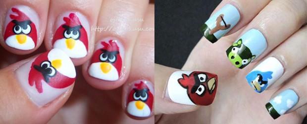 Cute-Angry-Birds-Nail-Art-Designs-Ideas-2013-2014-F