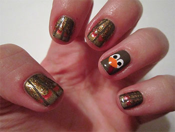 Cute Easy Thanksgiving Nail Art Designs Ideas 2013 2014