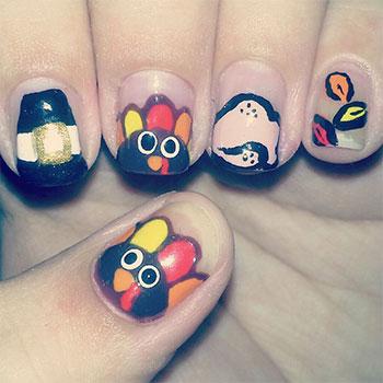 Cute-Easy-Thanksgiving-Nail-Art-Designs-Ideas-2013-2014-9