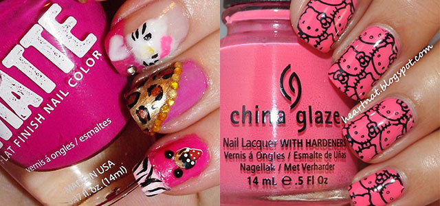 Cute Hello Kitty Nail Art Designs Supplies Stickers 2013 2014