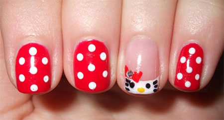 Cute-Simple-Hello-Kitty-Nail-Art-Designs-Stickers -Nail-Art-For-Beginners-10