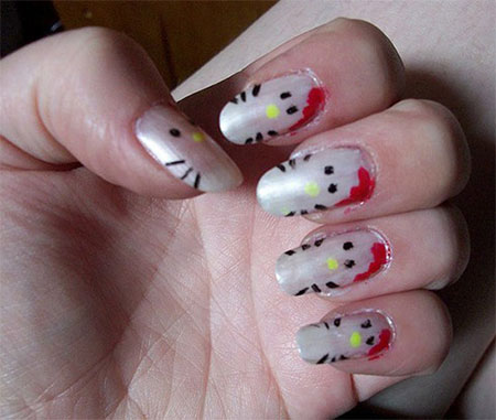 Cute-Simple-Hello-Kitty-Nail-Art-Designs-Stickers -Nail-Art-For-Beginners-2