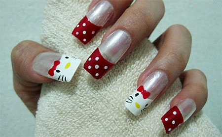 Cute-Simple-Hello-Kitty-Nail-Art-Designs-Stickers -Nail-Art-For-Beginners-3