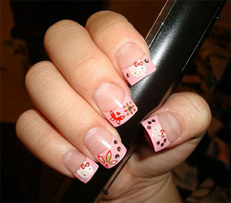 Cute-Simple-Hello-Kitty-Nail-Art-Designs-Stickers -Nail-Art-For-Beginners-7