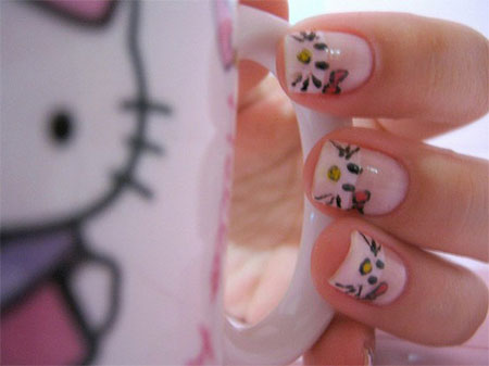 Cute-Simple-Hello-Kitty-Nail-Art-Designs-Stickers -Nail-Art-For-Beginners-8