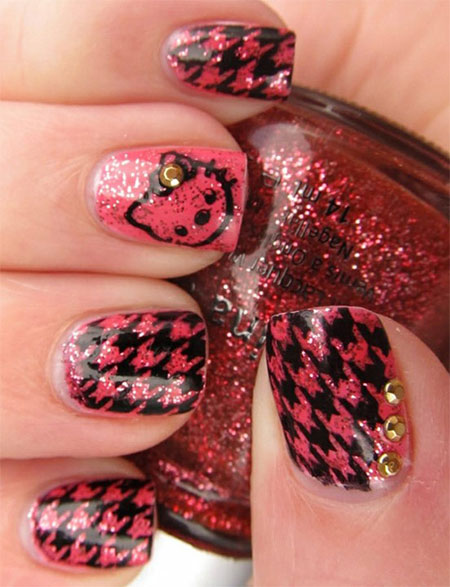 Cute-Simple-Hello-Kitty-Nail-Art-Designs-Stickers -Nail-Art-For-Beginners-9