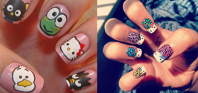 cartoons easy hello kitty nail art designs for beginners