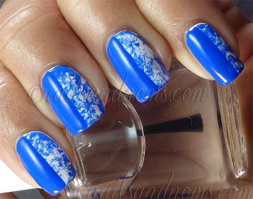 Cute-Yet-Simple-Blue-Nail-Art-Designs-Ideas-2013-2014-10