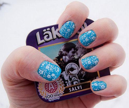 Cute-Yet-Simple-Blue-Nail-Art-Designs-Ideas-2013-2014-3