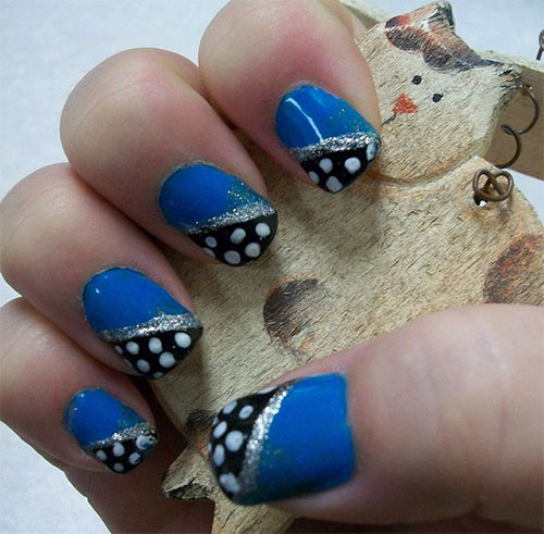Cute Yet Simple Blue Nail Art Designs & Ideas 2013/ 2014