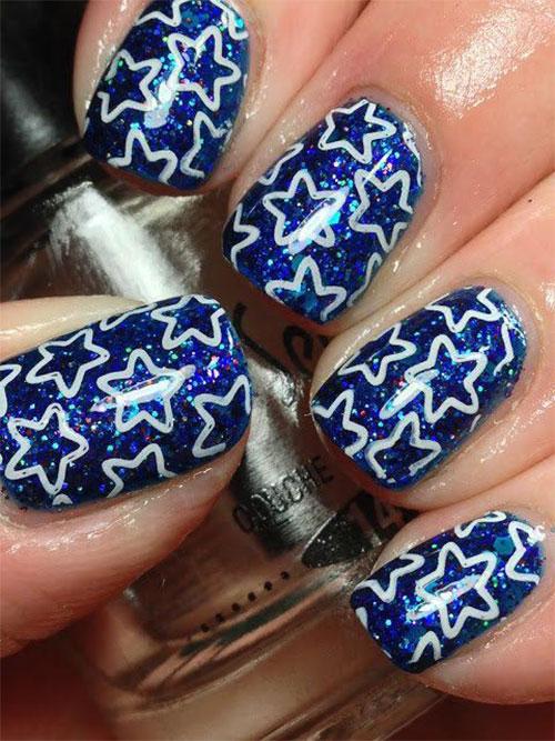Cute-Yet-Simple-Blue-Nail-Art-Designs-Ideas-2013-2014-6