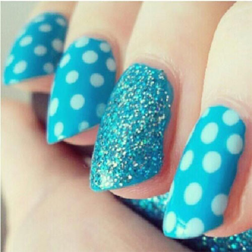 Cute-Yet-Simple-Blue-Nail-Art-Designs-Ideas- - Cute Yet Simple Blue Nail Art Designs & Ideas 2013/ 2014