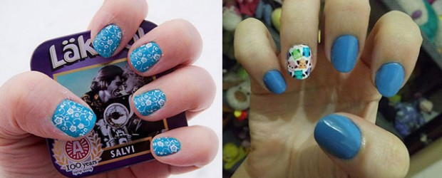 Cute-Yet-Simple-Blue-Nail-Art-Designs-Ideas-2013-2014