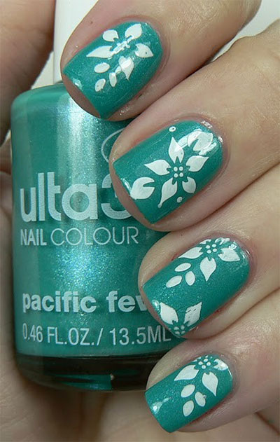 Green-Nail-Art-Designs-Ideas-2013-2014-1