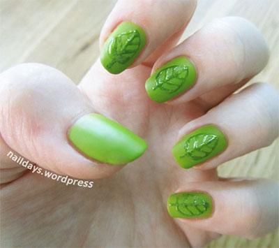 Green-Nail-Art-Designs-Ideas-2013-2014-10