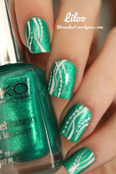 Green-Nail-Art-Designs-Ideas-2013-2014-3