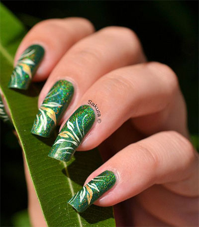 Green-Nail-Art-Designs-Ideas-2013-2014-4