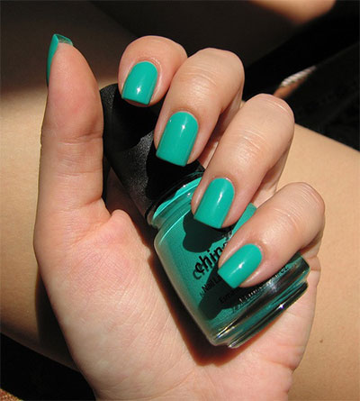Green-Nail-Art-Designs-Ideas-2013-2014-5
