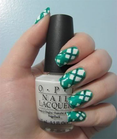 Green-Nail-Art-Designs-Ideas-2013-2014-7