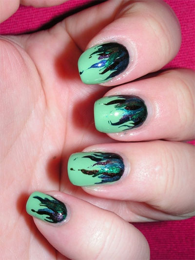 Green-Nail-Art-Designs-Ideas-2013-2014-8