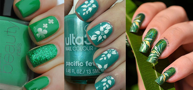 Green-Nail-Art-Designs-Ideas-2013-2014