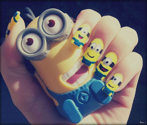Minions-Nail-Art-Ideas-Designs-Stickers-2013-2014-Despicable-Me-2-Nails-2