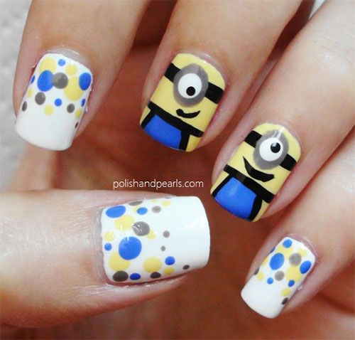 Minions-Nail-Art-Ideas-Designs-Stickers-2013-2014-Despicable-Me-2-Nails-5