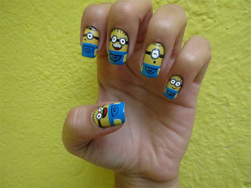 Minions-Nail-Art-Ideas-Designs-Stickers-2013-2014-Despicable-Me-2-Nails-6