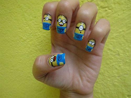 Minions-Nail-Art-Ideas-Designs-Stickers-2013-2014-Despicable-Me-2-Nails-6
