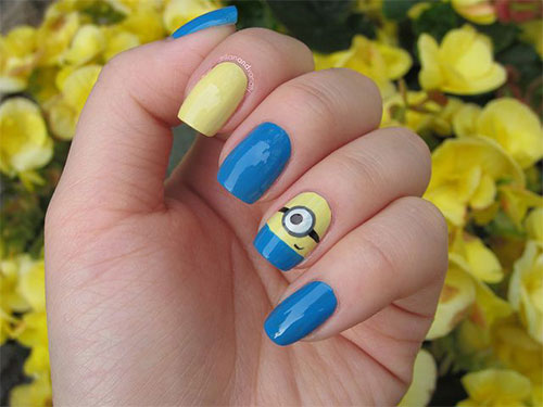 Minions-Nail-Art-Ideas-Designs-Stickers-2013-2014-Despicable-Me-2-Nails-7