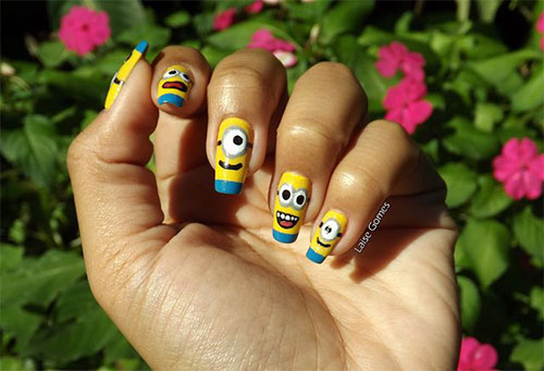 Minions-Nail-Art-Ideas-Designs-Stickers-2013-2014-Despicable-Me-2-Nails-8