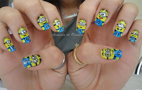 Minions-Nail-Art-Ideas-Designs-Stickers-2013-2014-Despicable-Me-2-Nails-9