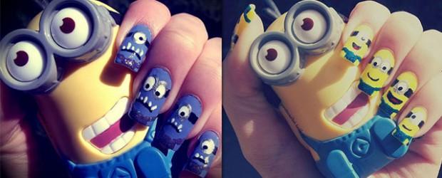 Minions-Nail-Art-Ideas-Designs-Stickers-2013-2014-Despicable-Me-2-Nails