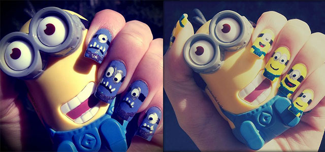 Minions-Nail-Art-Ideas-Designs-Stickers-2013-2014-Despicable-Me-2-Nails