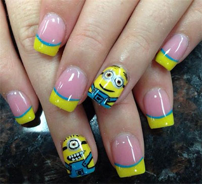 Minions-Nails-2013-2014-Despicable-Me-2-Nail-Art-Designs-1
