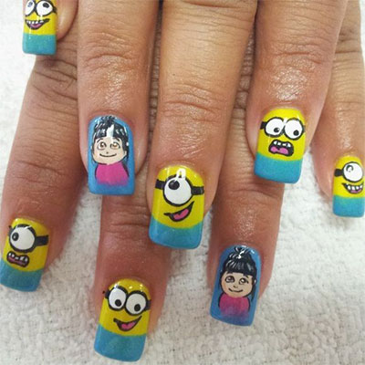 Minions-Nails-2013-2014-Despicable-Me-2-Nail-Art-Designs-3