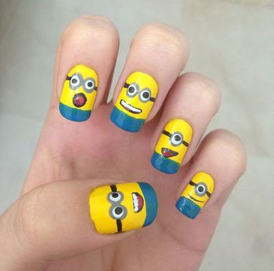 Minions-Nails-2013-2014-Despicable-Me-2-Nail-Art-Designs-5