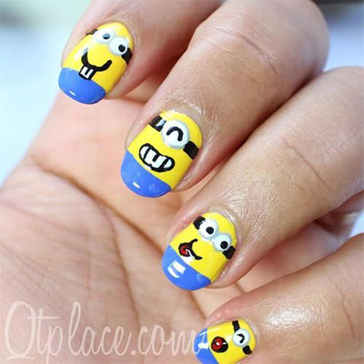 Minions-Nails-2013-2014-Despicable-Me-2-Nail-Art-Designs-6