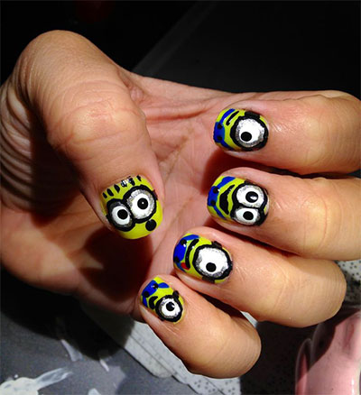 Minions-Nails-2013-2014-Despicable-Me-2-Nail-Art-Designs-7